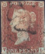 1841 1d Red SG7 Plate 10 'TL'